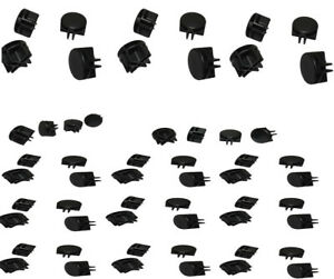 Set Of 100 Pieces Black Plastic Wire Grid Connectors Clipping Clamp Retail Store