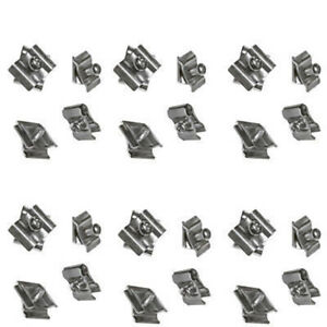 Set Of 100 Pieces Chrome Joiner Connector Clamps Gridwall Panel Retail Store