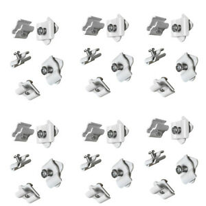 Set Of 100 Pieces White Joiner Connector Clamps Gridwall Panel Retail Store