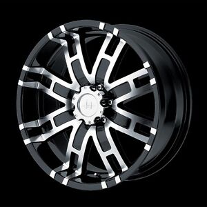 17 Inch Black Truck Wheels Rims 5 Lug Dodge Ram 1500 Ford F 150 Truck 5x5 5 New