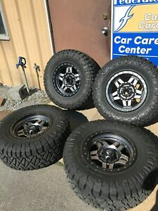 Dodge 1500 And 1984 Jeep Cj7 Fuel Wheels And Nitto Tires 5x5 5 Bolt Pattern