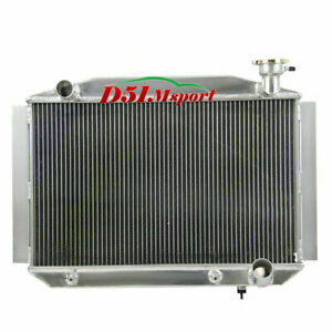 4row All Aluminum Radiator Fits 55 56 57 58 59 Chevy Corvette L6 V8 Gas At mt