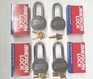 4 New American Lock A701 High Security Solid Steel Padlocks All Keyed Alike