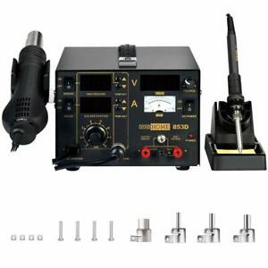 Vivohome 3 in 1 853d Hot Air Gun Station Soldering Rework Welder Smd Repair Tool