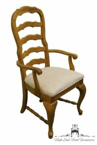 American Drew Country French Oak Ladderback Dining Arm Chair