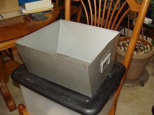 Curmanco St Paul Mn One Vintage Steel Metal File Storage Shaped Box Container