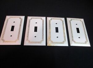 4 Sgl Switch Cover Plates Woodtex White Decoroom American Tack Hardware 150tw