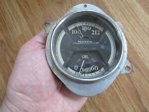 Interesting Old Water And Oil Gauge