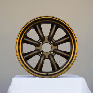 4 Rota Rkr Wheels 17x8 5 10 4x114 3 Speed Bronze Big Caps Ae86 240z Supra