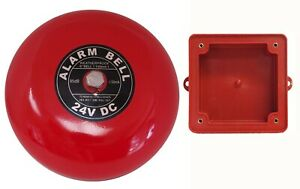 Fire Alarm Bell 6 24 Vdc With Waterproof Backing Enclosure Security Bell