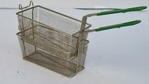 Lot Of 2 Commercial Deep Fryer Basket W Green Handle 12x5x5 Kitchen Restaurant