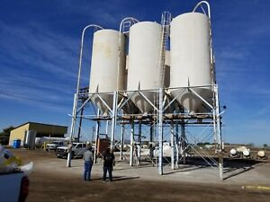 50000 Gallon Stainless Steel Silo Tank Last Used In Food Processing