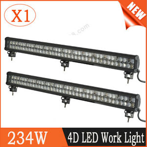 36inch 234w Cree Flood Spot Combo Led Work Light Bar Off Road Boat Suv Ute 4wd