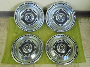 1965 Plymouth Hub Caps 14 Set Of 4 Mopar Wheel Covers 65 Hubcaps
