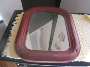 Wood Arched Frame Mirror Arched