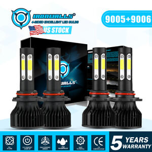 Combo 9005 9006 6000k 570000lm 4 side Cree Led Headlight Kits High