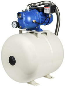 3 4 Hp Cast Iron Shallow Well Jet Pump With 13 2 Gallon Steel Pressure Tank