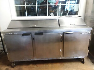 Beverage Air Sp72 18 Sandwich Prep Table Cooler 3 Door Refrigerator