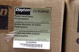 Dayton 5uwh4 Piston Hand Drum Pump Polypropylene Barrel Pump new In Box