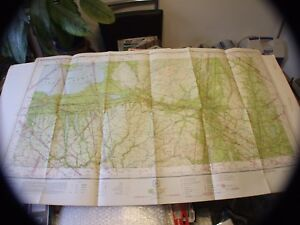 Vintage Rare 1942 Restricted Aeronautical Chart Map Albany Ny 42 X 2