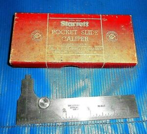 Starrett No 425 5 Inch Pocket Slide Caliber Quick Reading With Original Box