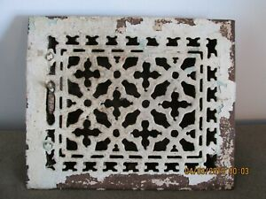 Antique Cast Iron Wall Floor Heating Vent Grate Register Tuttle And Bailey 1886