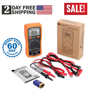Pro Digital Multimeter Volt Meter Tester Electric Ohm Ac Dc Rms Auto Range