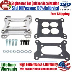 Aluminum 1933 Carb Carburetor Adapter 2bbl 4bbl Kit 4 Bolt 2 Barrel To 4 Barrel