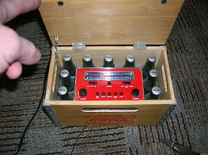 COCA-COLA Wood Crate AM/FM Clock Radio First Production Piece MAY 28  2002