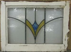 Old English Leaded Stained Glass Window Pretty Burst Design 22 X 16 5