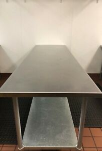 Stainless Steel Work Table 96 x30 galv Undershelf And Post