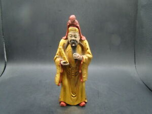 Chinese 1920 S Nice Carved And Original Painted Camphor Wood Figure T9715
