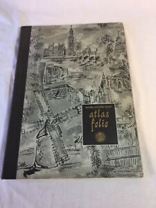 National Geographic Society 1959 Atlas Folio World Book Maps Hard Cover