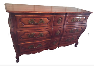Antique French Country Triple Chest Of Drawers Dresser Commode 1920 S