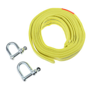 5 Tons Car Tow Cable Towing Strap Rope With Hooks Heavy Duty 13 Ft 540g