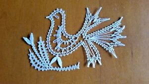 Hand Crafted Lace Figural Artwork Bird
