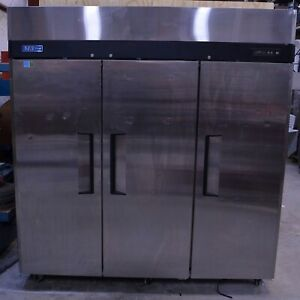 Turbo Air M3r72 3 3 door Stainless Steel Cooler Reach Commercial Refrigerator