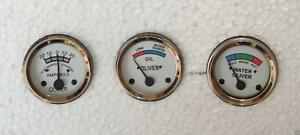 Oliver Super 44 55 66 77 88 440 660 Tractor Temp oil ampere Gauges white Face