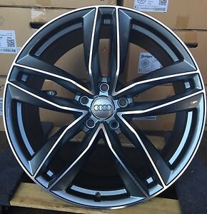 22 Audi Q7 Oe Style Gunmetal Wheels Tires Vw Touareg Cayenne 58840 Rims New