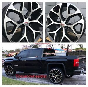 26 Gmc Sierra Wheels With Tires Snowflake Chevy Tahoe Yukon Avalanche Suburban