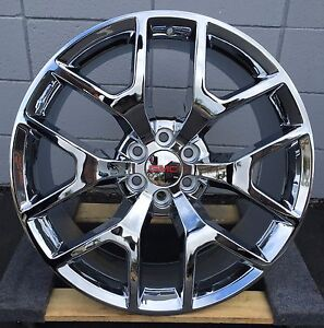 26 Inch Gmc Sierra Chrome Wheels Tires Yukon Silverado Avalanche Escalade New