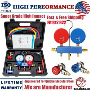 R134a R12 R22 Hvac A C Refrigeration Charging Manifold Gauge Diagnostic Kits Set