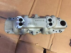 Weiand Vintage Ford Flathead V8 2x2 Dual Intake Hot Rod Stromberg