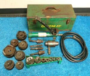 Greenlee 7310sb Hydraulic Knockout 1 2 4 Conduit Punch Set 1725 Pump
