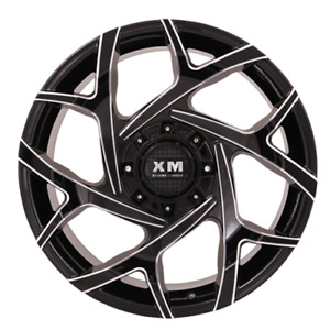 20x10 Xtreme Mudder Xm 333 Wheels Black Mill Offroad Rims 35 Tires Chevy Ford