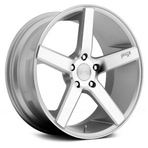 22 Niche Milan Wheels Stagger Concave Silver Rims Tires Fits Bmw 550 545 650