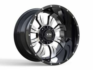 20x10 Xtreme Mudder Xm 323 Wheels Black Offroad Rims 35 Tires Fit Chevy Ford