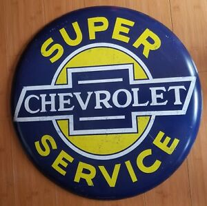 New Large Chevy Chevrolet Metal Home Wall Art Plaque Gasoline Oil Shop