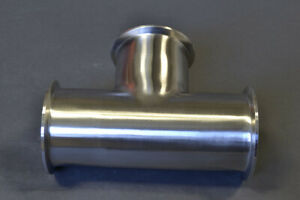 4 Sanitary Tee With Tri Clamp tri Clover Fittings Bulldog Stainless Steel 304