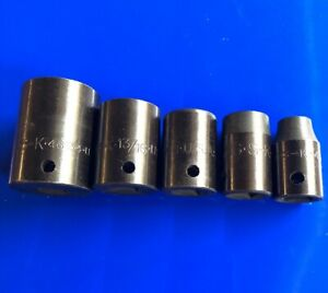 S k Tool Sk 1 2 Drive 6 point Impact Sae Socket Set Of 5 New Mint